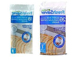 FoodSaver 1-Quart FreshSaver Vacuum Zipper Bags food storage