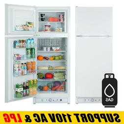 10 cu ft 3-Way Propane Gas Refrigerator Freezer RV Off-grid