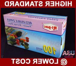 "100~ 13x16/"" Zip Reclosable Self Lock Freezer Storage 2 Gallon Bags Food Nuts Bag"