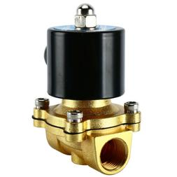 """110V Electric Solenoid Valve 1/2"""" inch Brass 110 VAC Water A"""