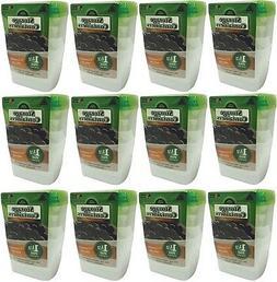 "4 packs Arrow Plastic 00043 1.5 Pint 4""x4""x4"" Freezer & Sto"