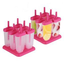12 Freezer Ice Pop Maker Mold Popsicle Dessert Ice Cream Fro