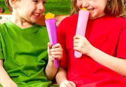 6 Freezer Pop Silicone Molds 6 colors 4 oz each food-safe BP