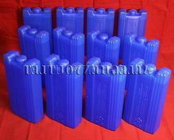 12 REUSABLE ICE PACKS Freezer Bag Ice Blocks Lunch Box Coole