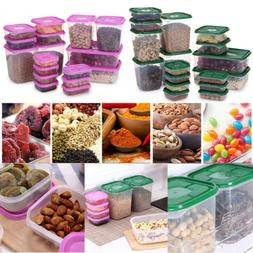 17Pcs Sealed Rectangular Plastic Food Saver Storer Storage B