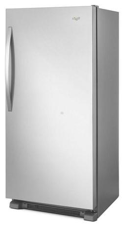 WHIRLPOOL 18 cu ft. Stainless Upright Freezer **NEW** READY