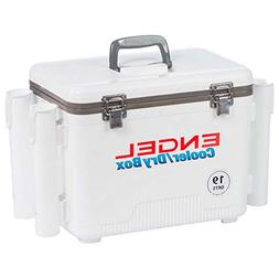 Engel 19 QT Cooler and Dry Box w/ Rod Holders White UC19-RH