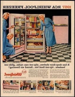 1957 RCA WHIRLPOOL Pink Freezer - TV Personality FRAN ALLISO