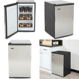 2.1 cu.ft Upright Home Freezer Stainless Steel Reversible Ad