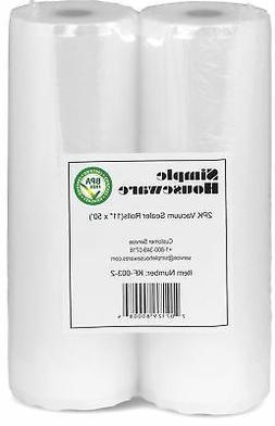 "2 Pack - SimpleHouseware 11"" x 50' Commercial Vacuum Sealer"
