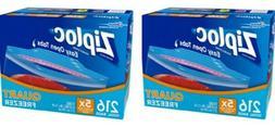 2-Cases Ziploc Freezer Quart Bags, Easy Open Tabs  No tax!