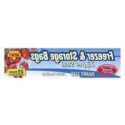 Home Select 2 in 1 Freezer & Storage Bags - Zipper Seal - Qu