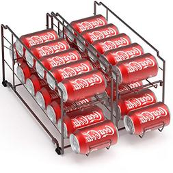 2 Pack - SimpleHouseware Stackable Front Loading Beverage Ca