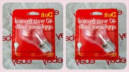 2-Pk Appliance Light Bulb Refrigerator Freezer Oven Microwav