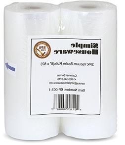 """2 / two Pack 8"""" x 50 foodsaver magic Vacuum Sealer Rolls Foo"""