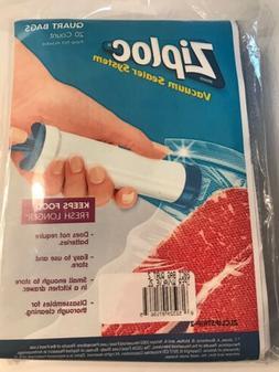 Ziploc Vacuum QUART Freezer Bags NEW 20 Count  Ziplock