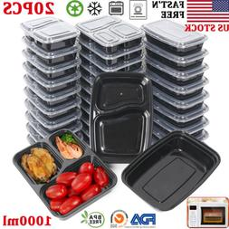 20/40/50X Reusable Meal Prep Containers Microwave Freezer Fo