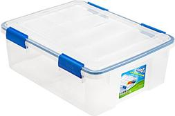 Ziploc 26.5Qt WeatherShield Clear Storage Container Box Orga