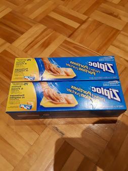 2x  75 Count Ziploc Perfect Portions Freezer Bag Food Meat C
