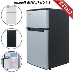 3.1 cu ft Mini Refrigerator Compact Fridge With Freezer 2 Do