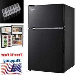 3.2 Cu Ft Mini Fridge Freezer 2-Door Compact Refrigerator Co