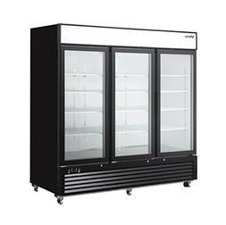 VORTEX REFRIGERATION 3 Glass Door 72 CF Commercial Merchandi