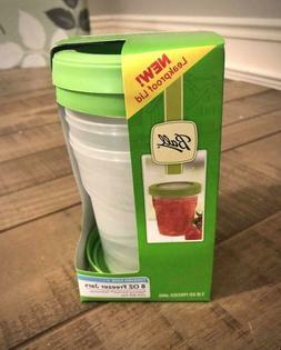 3 Plastic 8 ounce FREEZER Storage JARS BPA FREE Clear & Safe