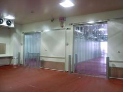 "3' x 7' Strip Curtain Door 36"" x 84""  Cooler Freezer 6"" NSF"