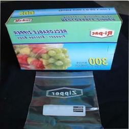 "300 Quart Size 7X8"" Zip Lock Reclosable Freezer Storage Bags"