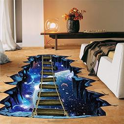 Futemo 3D Star Series Floor Wall Sticker Removable Mural Wal