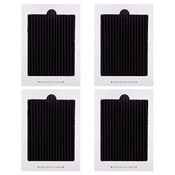 Petift 4 Pack Carbon Activated Refrigerator Air Filter Repla