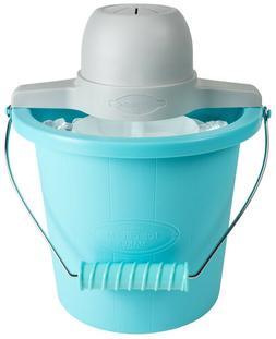 Nostalgia 4-Quart Blue Bucket Electric Ice Cream Maker NEW