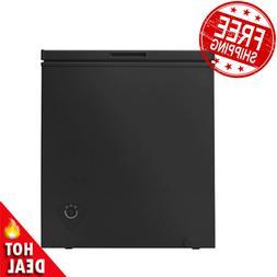 5 Cu Ft Chest Freezer Removable Storage Basket Defrost Drain