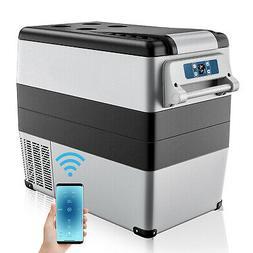 53 Quarts Portable Electric Car Cooler Refrigerator Freezer