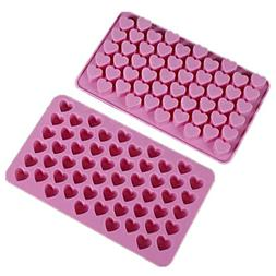 Allforhome 2PCS 55 Mini Heart Shape Silicone Ice Cube Tray R