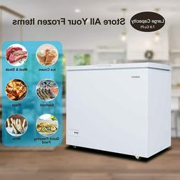 PREMIUM-7.0 Cu Ft New White Chest Freezer. Adjustable Temper