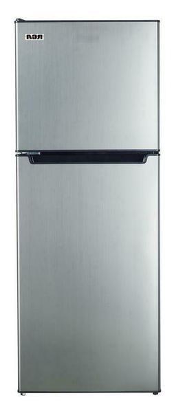 7.2 Cu. Ft. Top Freezer 2-Door Refrigerator in Platinum with