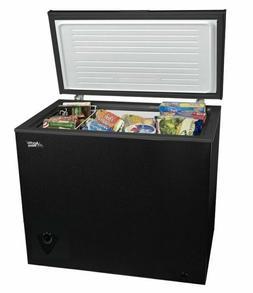 7 cu ft chest freezer black ice