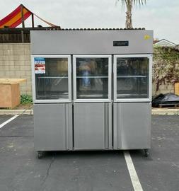 72 commercial 6 door refrigerator freezer combo
