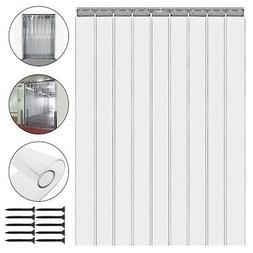 9 PVC Plastic Strip 6.6ft Clear Freezer Room Curtain Door St