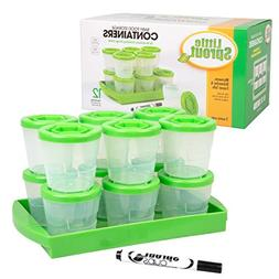 Baby Food Containers: Reusable Stackable Freezer Safe Storag