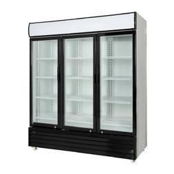 Commercial 3 Glass Door Merchandiser Upright Refrigerator Co