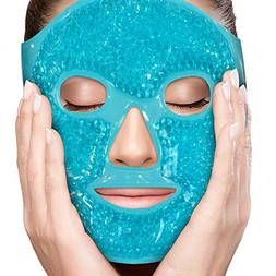 Face Eye Mask Gel Cold Pack – Reduce Puffiness, Bags Under