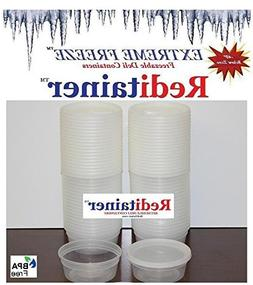 Reditainer Extreme Freeze Deli Food Containers with Lids, 8-
