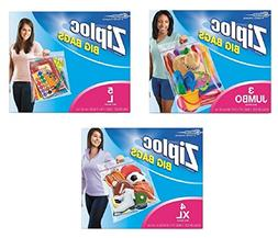 Ziploc Big Bags Double Zipper Combo Box Pack Of 3 Assorted S