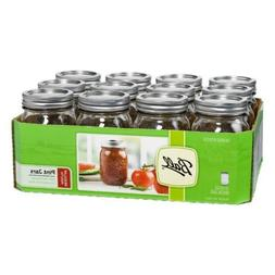 Ball Regular Mouth Pint Jars 12 Count  Made in USA Brand New