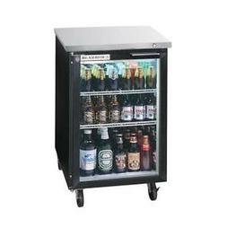 "Beverage-Air BB24HC-1-G-B 24"" Glass Door Back-Bar Refriger"