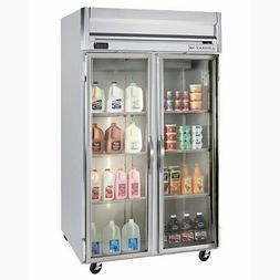Beverage-Air HFS2-1G 49 CuFt Horizon Glass Door Reach-In Fre