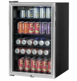 Beverage Refrigerator Cooler 150 Can Stainless Steel Beverag