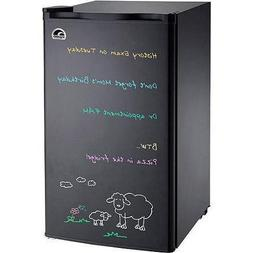 Igloo Black Eraser Board Refrigerator, 3.2 cu ft, with Rever